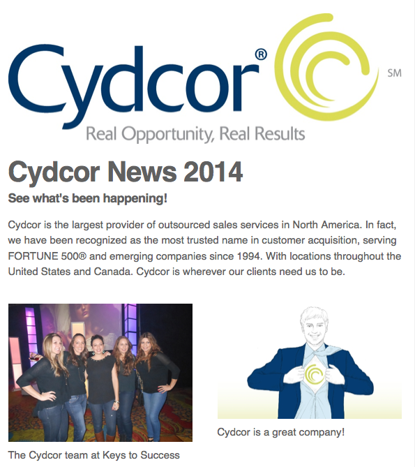 Cydcor Newsletter