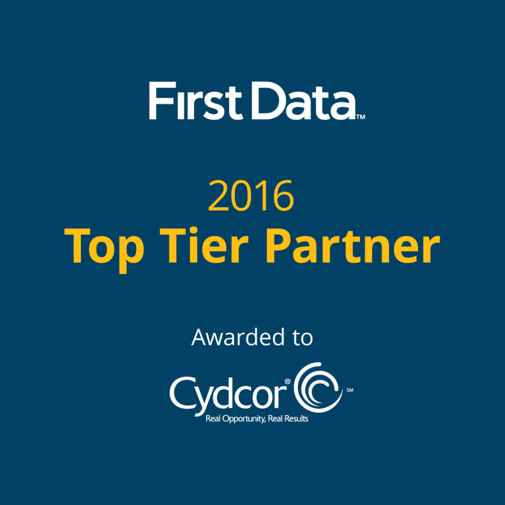 First Data Top Tier Partner Award Goes to Cydcor