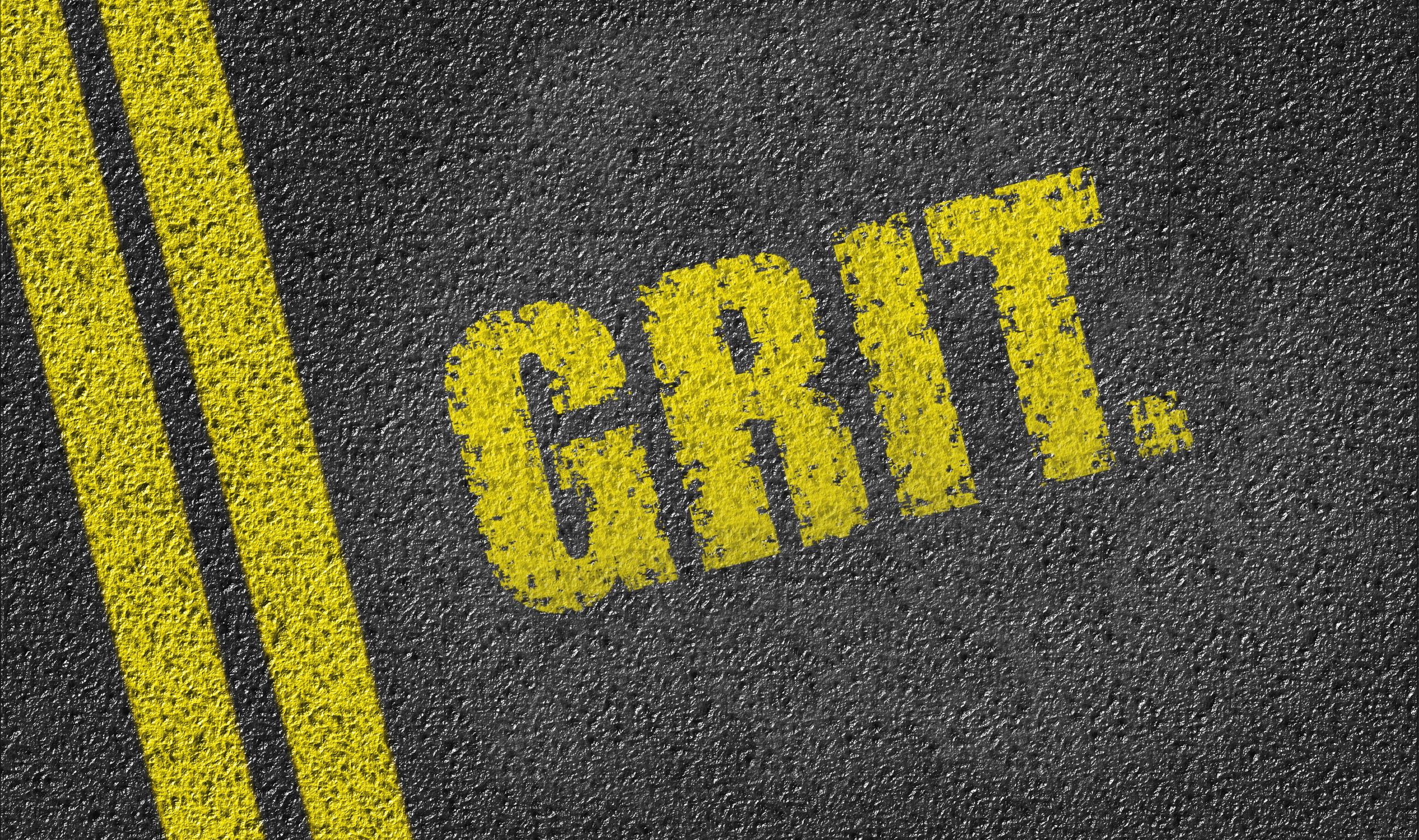 Grit words on pavement