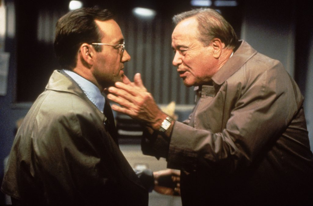 Ken Spacey and Jack Lemmon in Glengarry Glen Ross