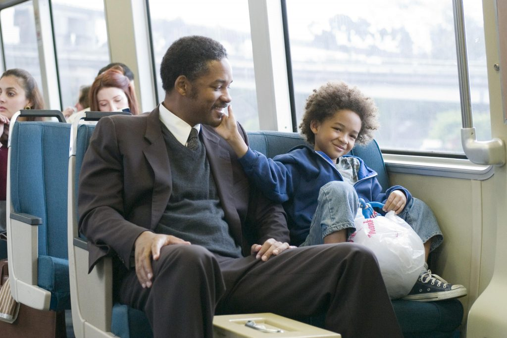Will Smith and Jayden Smith in Pursuit of Happyness
