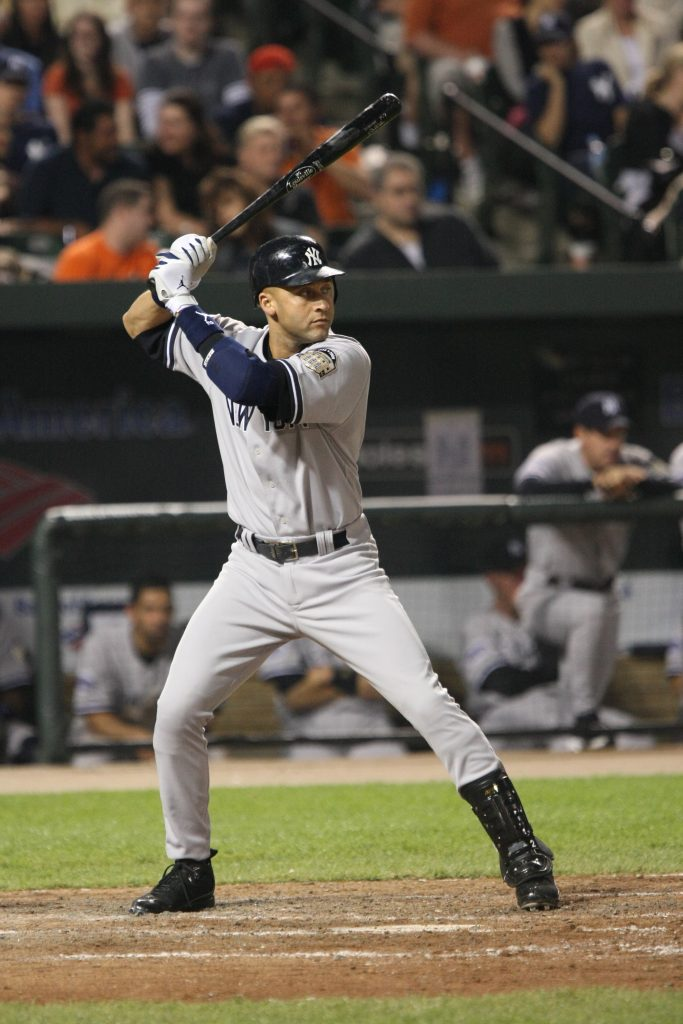 Derek Jeter playing ball.