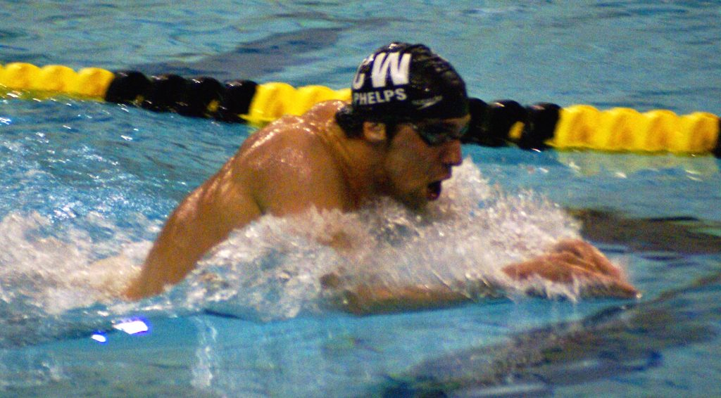 Michael Phelps swimming.