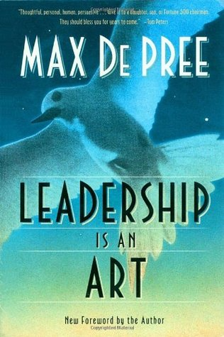 Book cover art for Leadership is an Art