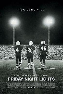 Movie poster for Friday Night Lights, 2004.
