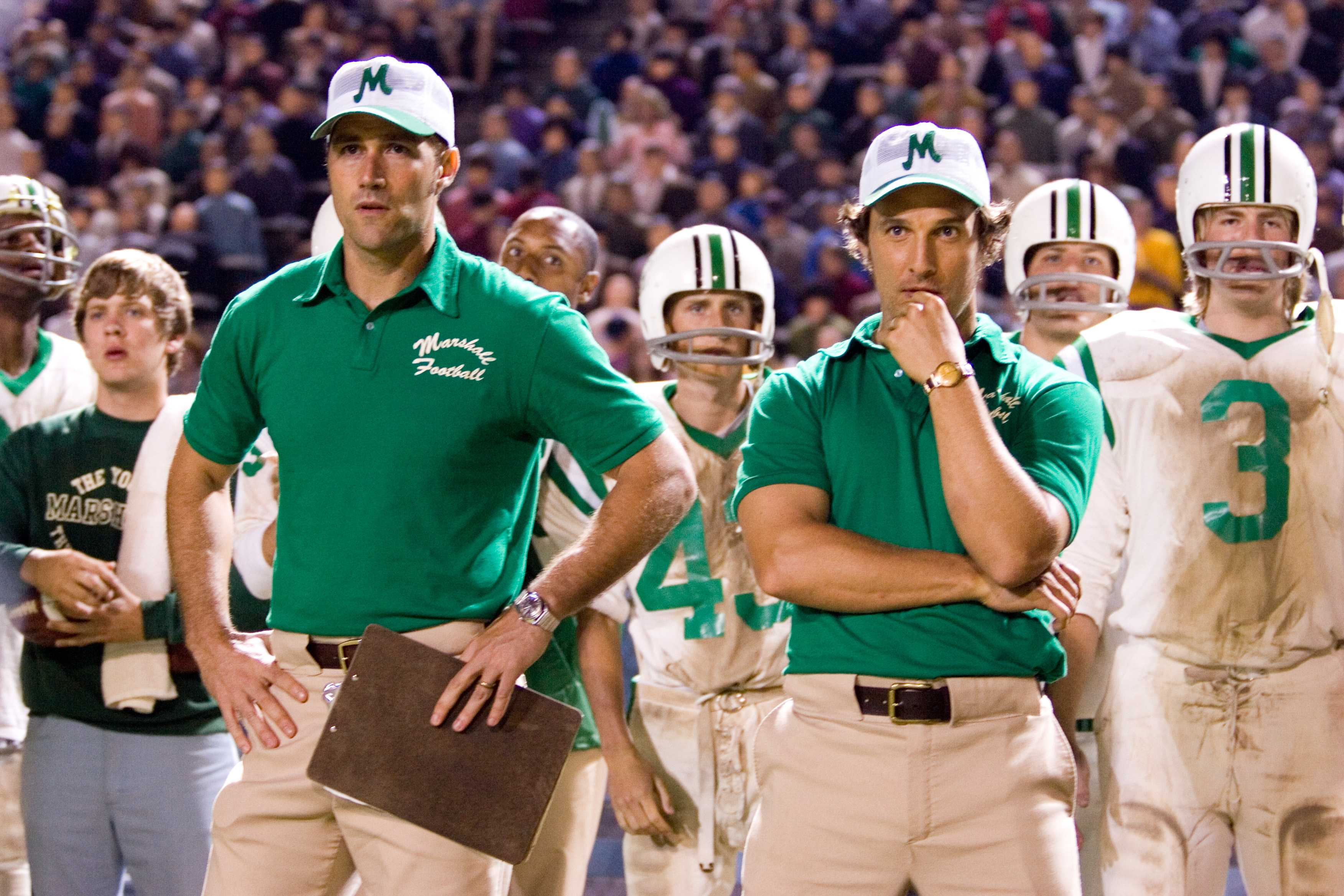 Matthew Mcconaughey playing a coach in We are Marchall