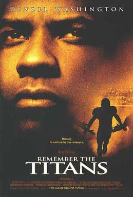 Movie poster for Remember the Titans.