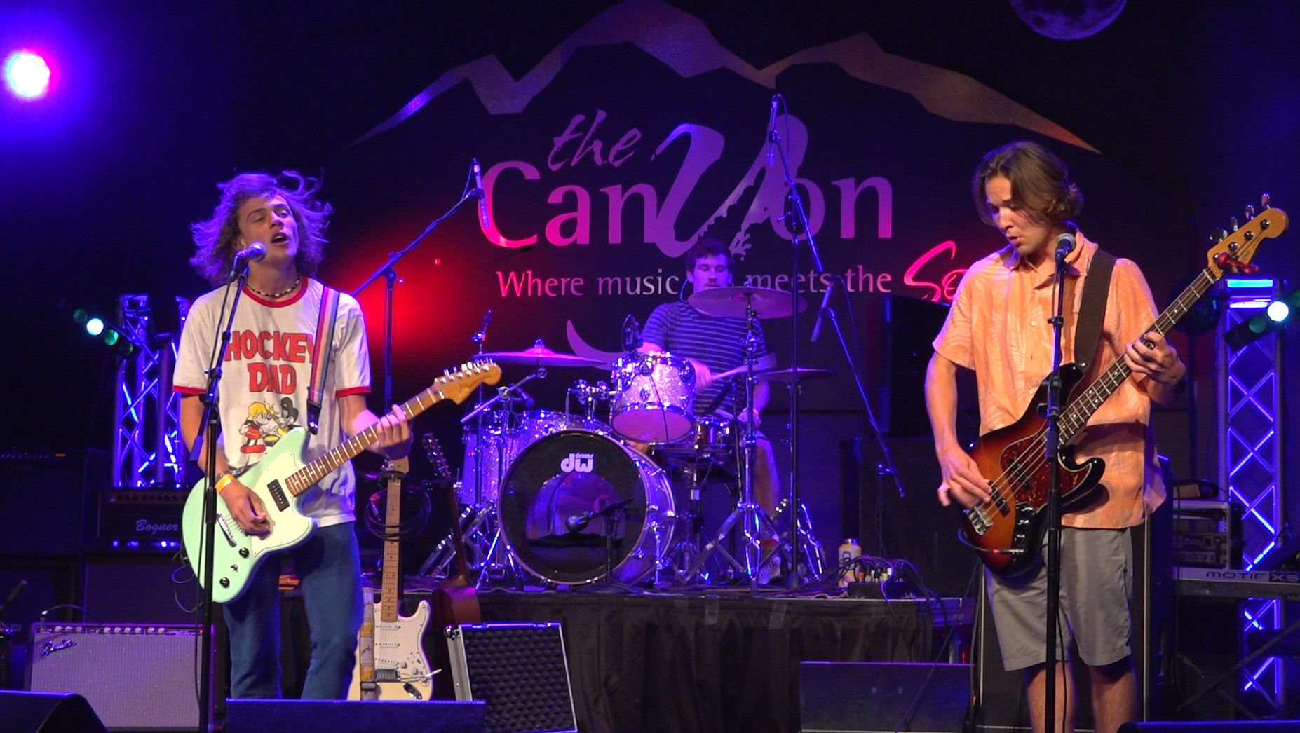 The band Sitting on Stacy performs on stage at The Canyon in Agoura Hills