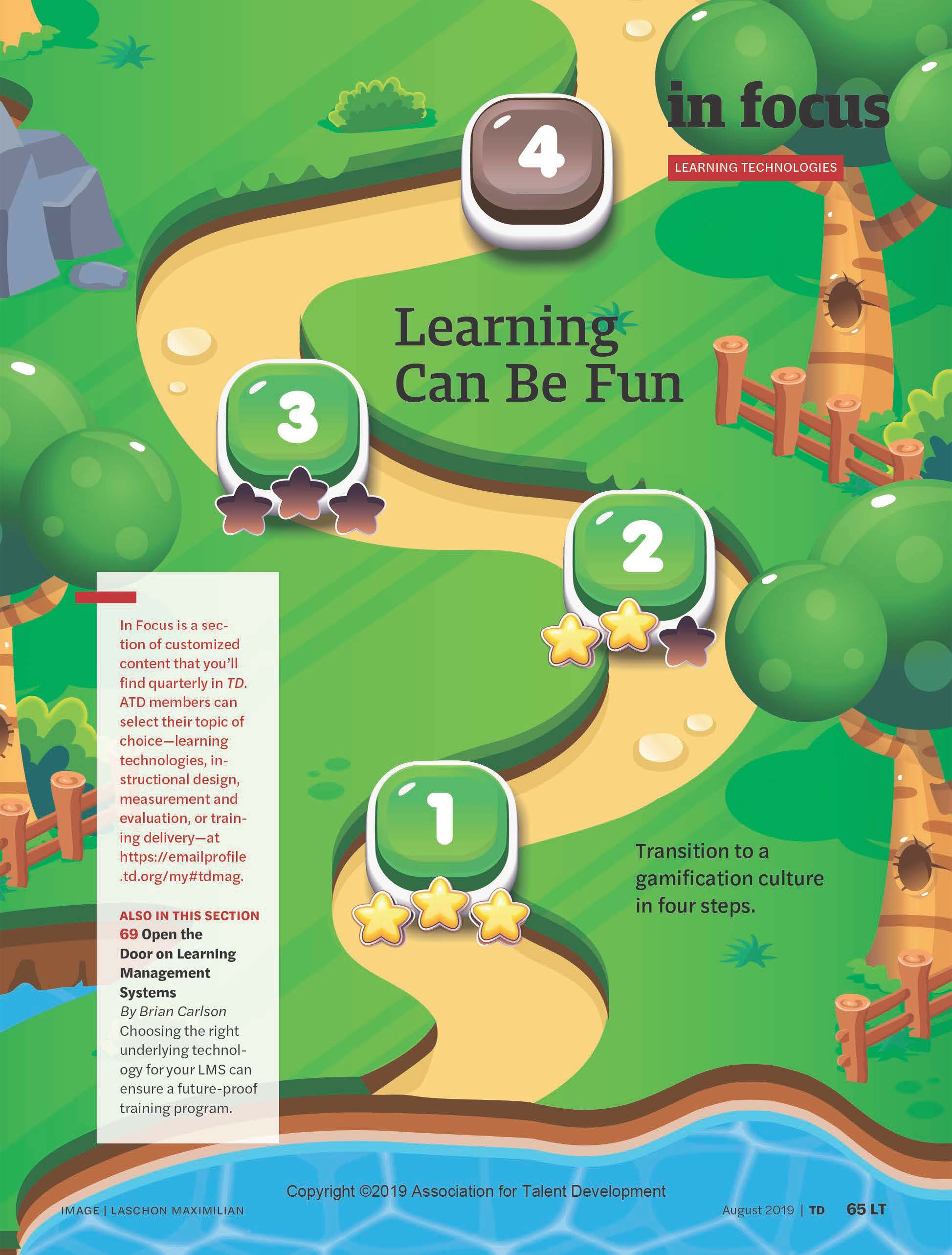 "Graphic of a winding path with text ""Learning Can Be Fun, Boosting Employee Engagement through gamification"""