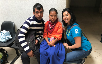 Yesenia Andrade on an Op Smile Mission with a patient